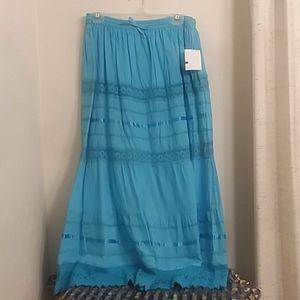 MAGIC Teal Prairie style skirt